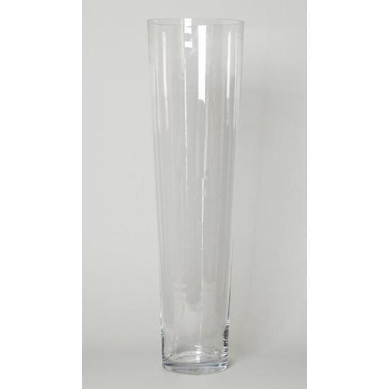 Bol Com Conische Vaas Glas 90 Cm Glazen Bloemenvaas Taps Decoratieve Vazen