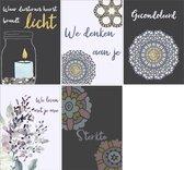 Condoleancekaarten en rouwkaarten  - Set van 10 x Condoleancekaart en Rouwkaart - Sterkte, Rouw en Deelneming