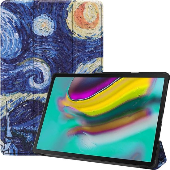 Tablet2you - Samsung Galaxy Tab A 2019 - Smart cover - Hoes - Sterrennacht - T510 - T515 - 10.1