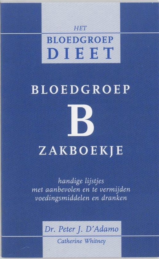 Bloedgroep B zakboekje - P. D'Adamo pdf epub