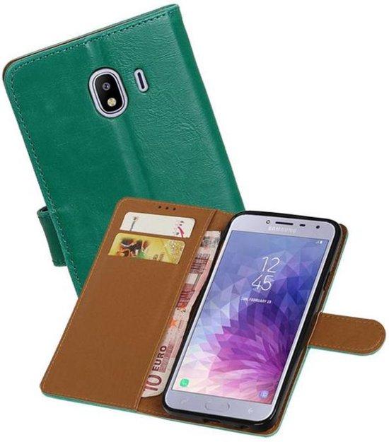 Zakelijke Bookstyle Hoesje Samsung Galaxy J4 Groen