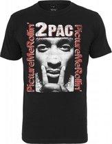 Tupac Boxed In Black T-shirt Maat XXL
