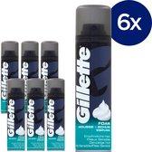 Gillette Basic Gevoelige Huid Scheerschuim Mannen - 6x200ml Voordeelverpakking