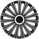 Autostyle Wieldoppen 14 inch LeMans zwart/zilver