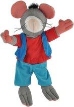 Kikker-Handpop 40 cm Rat - dieren - knuffel - poppenkast -