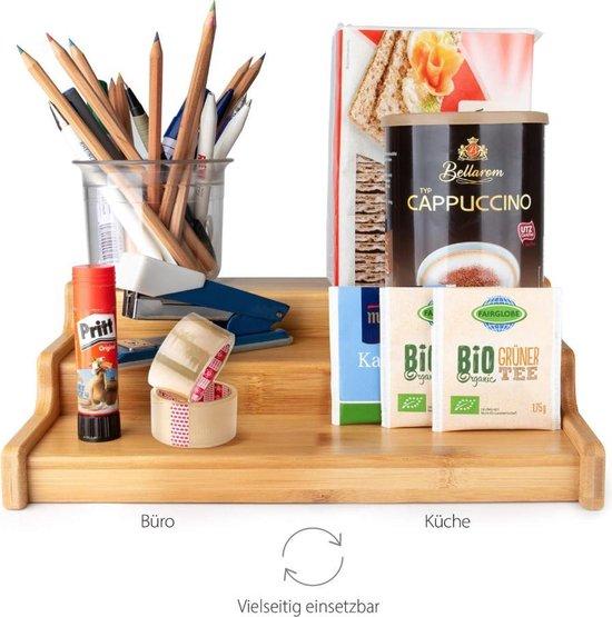 Bol Com Kruidenrek Uitschuifbaar Bamboe Hout Verstelbaar Aanrechtblad Keuken