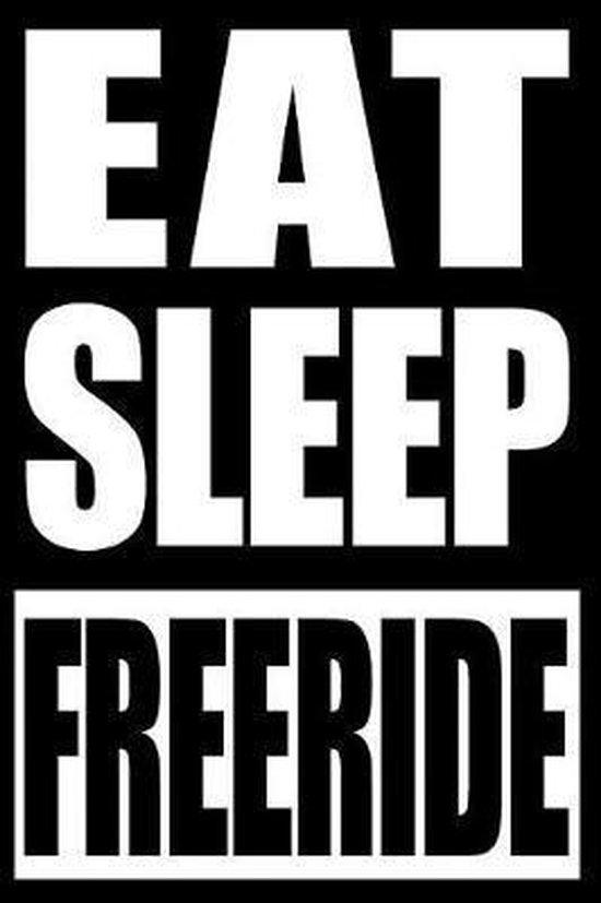 Eat Sleep Freeride Notebook for Longboard Lovers