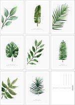 Fabrikten Botanisch Kaartenset – 8 stuks – A6 - Groen