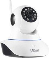IP-camera, LESHP 1080P 2.0 MP FHD WiFi IP Cam Surveillance beveiligingssysteem Video-opname P2P Pan Tilt afstandsbediening Bewegingsdetectie Alarm Nachtzicht met tweeweg audio-ondersteuning 64 GB SD