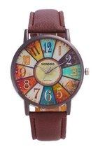 Hidzo Horloge Sonsdo ø 37 mm - Bruin - In horlogedoosje