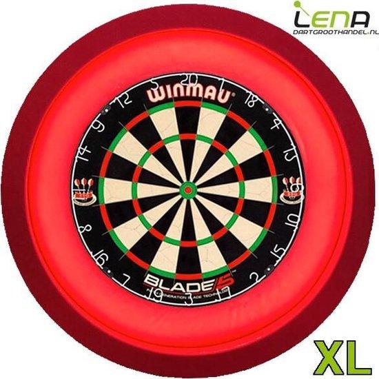 Afbeelding van het spel LENA Dartbord Verlichting Super Deluxe (Rood)