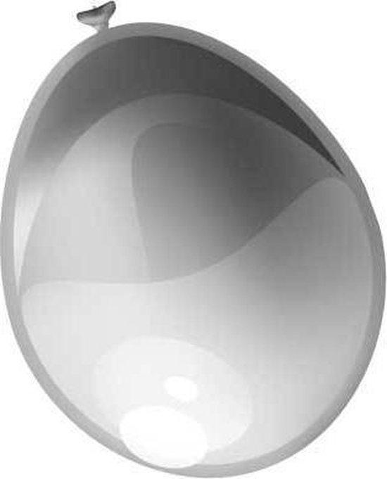 Ballonnen metallic zilver (10 stuks)