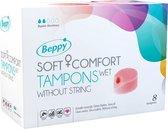 Beppy Soft+Comfort Tampons WET - 8 stuks - zonder touwtje