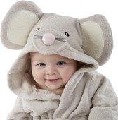 Soft 4 Baby's - Badjas Baby - Muis - Grijs - Vanaf 12 Maanden Oud