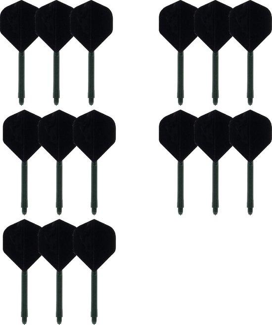 deDartshop 5 Twin Packs dartShafts - dartFlights Multipack - Zwart