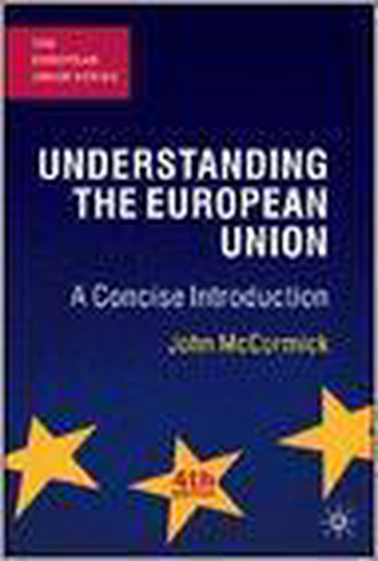 Boek cover Understanding The European Union van John Mccormick (Paperback)