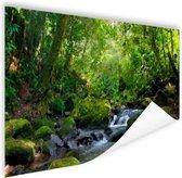 Regenwoudkreek Poster 90x60 cm - Foto print op Poster (wanddecoratie woonkamer / slaapkamer)