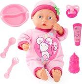 Bayer Babypop - First Words Babydoll - Roze - 33 cm