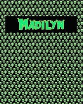 120 Page Handwriting Practice Book with Green Alien Cover Madilyn