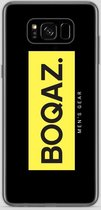 BOQAZ. Samsung Galaxy S8 hoesje - Labelized Collection - Yellow print BOQAZ