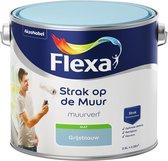 Flexa Strak op de muur Muurverf - Mat - 2,5 liter - Grijsblauw