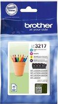 Brother LC-3217 - Inktcartridge / Zwart / Cyaan / Magenta / Geel