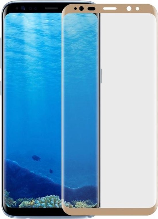 Let op type!! Electroplate voor Galaxy S8 Angibabe 0.1mm huisdier gebogen Front zachte Full Screen Protector Film(Gold)