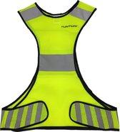 X-shape Running Vest - X-vorm hardloopvest - Jogging reflectie vest Veiligheidsvest - Safety Vest - Veiligheidshesje - Hardloop veiligheidsvest - Reflecterend - Maat S
