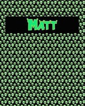 120 Page Handwriting Practice Book with Green Alien Cover Matt