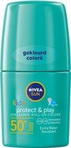 NIVEA SUN Kids Protect & Play Groene Roll-On Zonnebrand SPF 50+ - 50 ml