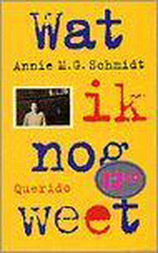 Wat ik nog weet - Annie M.G. Schmidt | Readingchampions.org.uk
