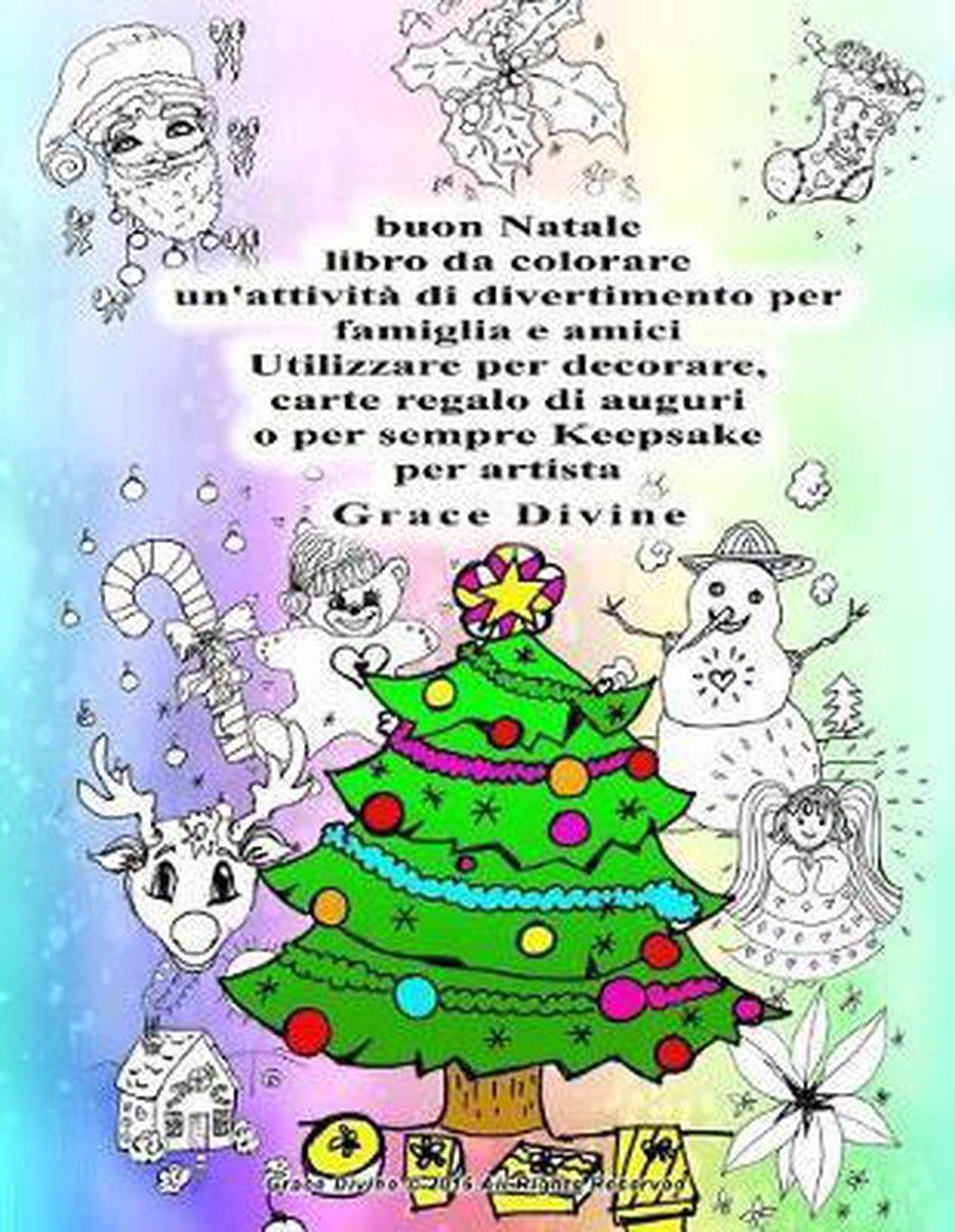 Buon Natale Arte.Bol Com Buon Natale Libro Da Colorare Un Attivit Di Divertimento Per Famiglia E Amici