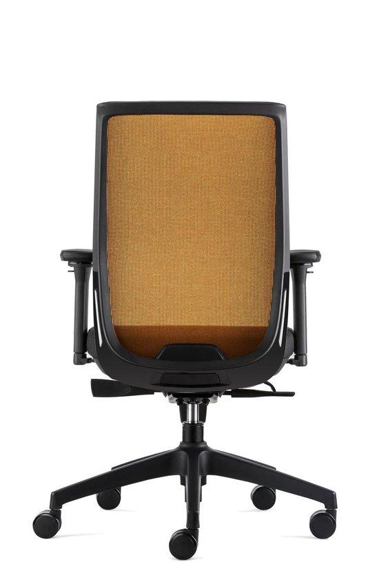 BenS 837 Ergo 4 Ergonomische Bureaustoel met alle instel opties Voldoet aan EN1335 en Arbo norm OranjeZwart
