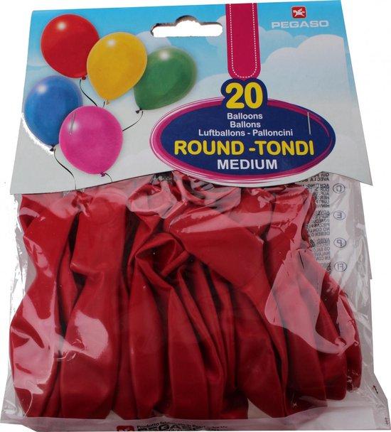 Pegaso Ballonnen 28 Cm Rood 20 Stuks