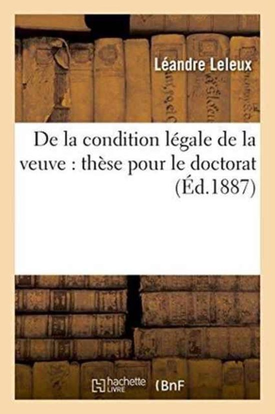 de la Condition L�gale de la Veuve
