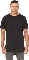Bella + Canvas extra lange T-shirts, Kleur Zwart, Maat M (3 stuks)