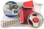 Verpakkings tape afroller + 2 rol tape