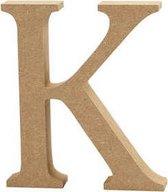 Letter K h: 8 cm dikte 1 5 cm MDF 1stuk