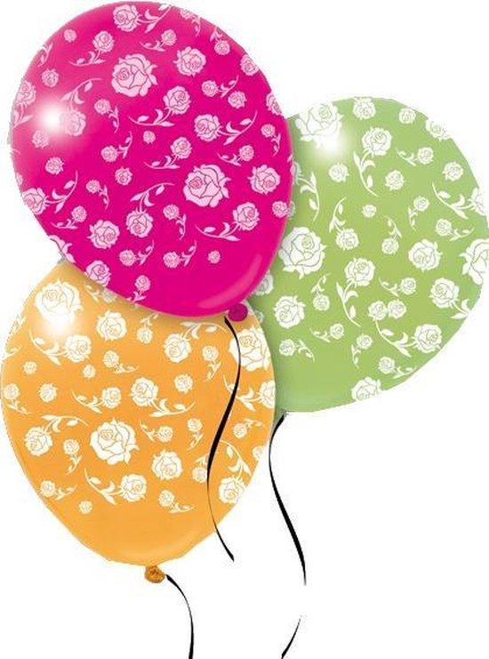 Pegaso Ballonnen Rozenprint 14 Stuks 32 Cm