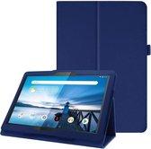 Lederen Bescherm hoes voor Lenovo Tab P10 - blauw