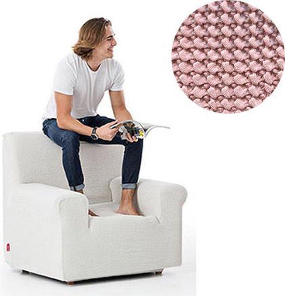 Milos meubelhoezen - Hoes voor fauteuil 70-110cm - Roze - Verkrijgbaar in verschillende kleuren!
