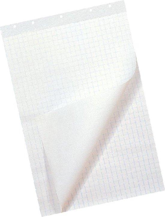 Afbeelding van Flipoverpapier 65x100cm, 50 vellen, Blanco Ruit