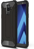 Let op type!! Magic Armor TPU + PC combinatie Case voor Galaxy A6 + (2018)(Black)
