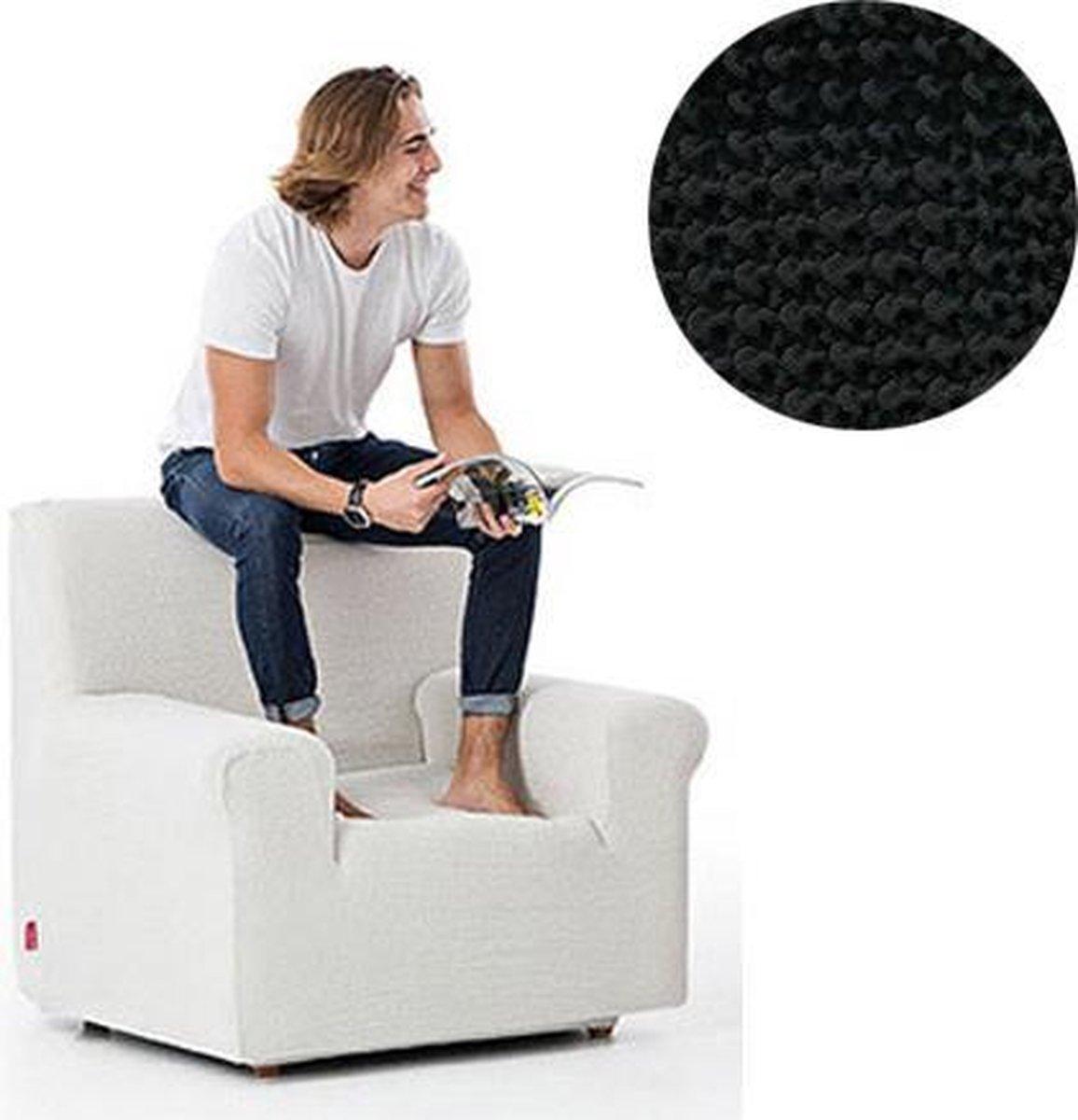 Milos meubelhoezen - Hoes voor fauteuil 70-110cm - Zwart - Verkrijgbaar in verschillende kleuren!