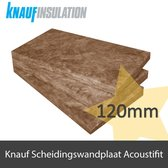 Glaswol Knauf Acoustifit 120mm dik 600mm breed (Rd 3,20 m2,K/W)