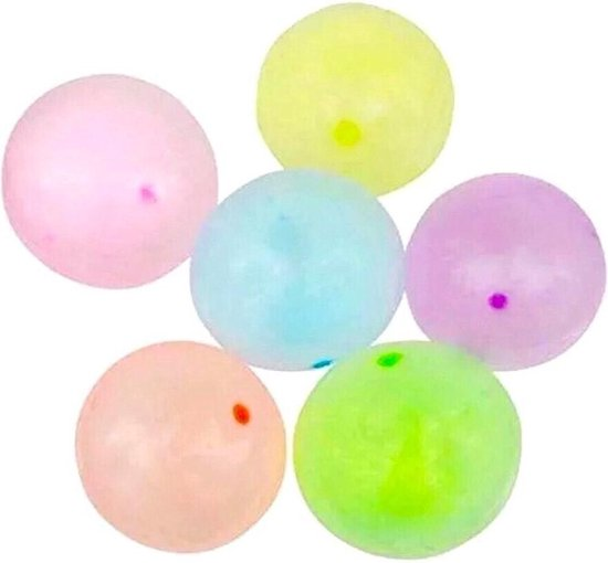Opblaasbare Jelly Punch Ballonnen - 25 cm - 3 stuks balloon bal - traktatie uitdeelcadeau kinderfeestje