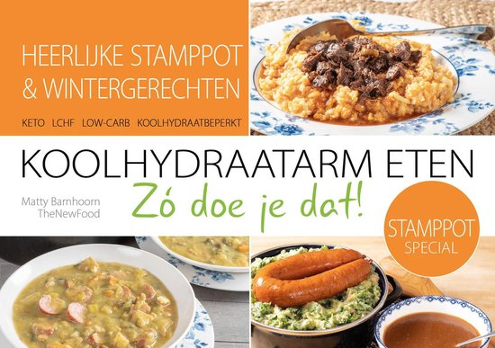 Boek cover KOOLHYDRAATARME/KETO STAMPPOTTEN van Matty Barnhoorn (Onbekend)