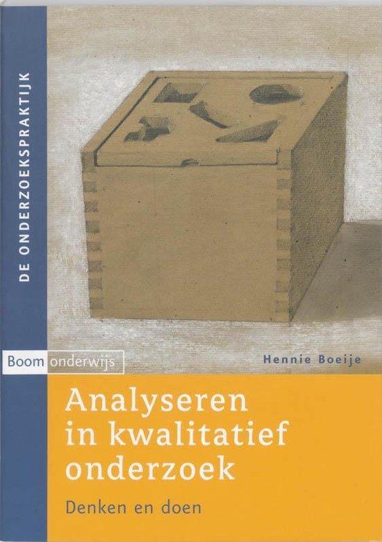 Analyseren in kwalitatief onderzoek - Hennie Boeije |