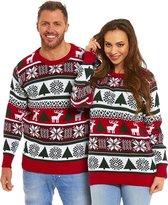 """Foute Kersttrui Dames & Heren - Christmas Sweater """"Bont & Gezellig"""" - Kerst trui Mannen & Vrouwen Maat M"""
