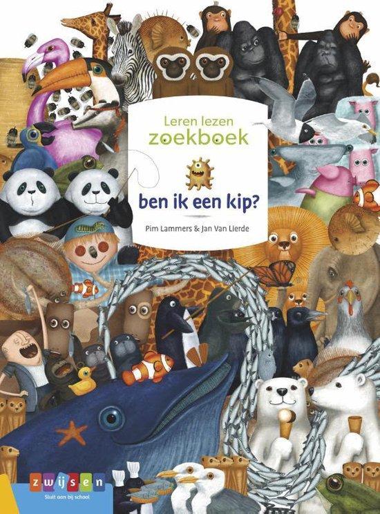 Boek cover Leren lezen zoekboek  -   ben ik een kip? van Pim Lammers (Hardcover)
